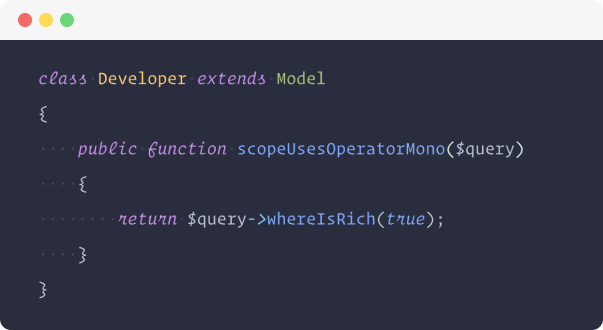 Screenshot of Operator Mono font in VS Code